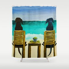 Beach Bums Shower Curtain