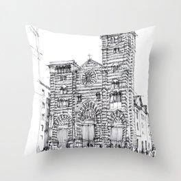 Cattedrale di Genova schizzo di studio Throw Pillow