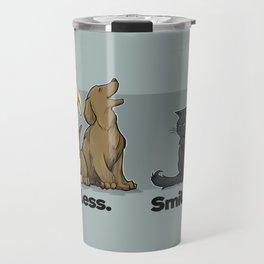 Bark Less. Smile More. Travel Mug
