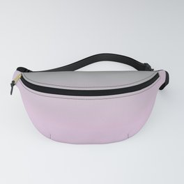 Grey and Pink Gradient Ombre Fading Fanny Pack