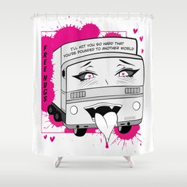 Aheago Truck-Kun - Isekai Anime Truck from Another World Shower Curtain