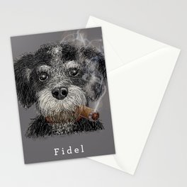 Fidel - The Havanese is the national dog of Cuba Stationery Cards