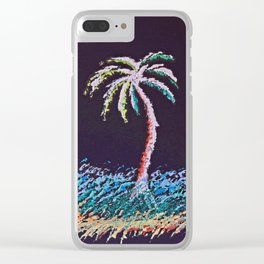 """""""Ghost Palms of Kauai #8"""" Painting Clear iPhone Case"""