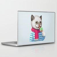ice cream Laptop & iPad Skins featuring Ice cream by Tummeow