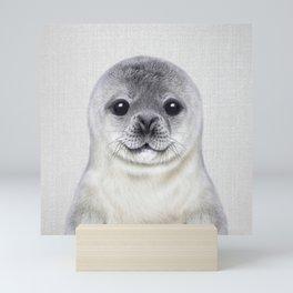 Baby Seal - Colorful Mini Art Print
