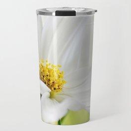 Cosmea white macro 037 Travel Mug