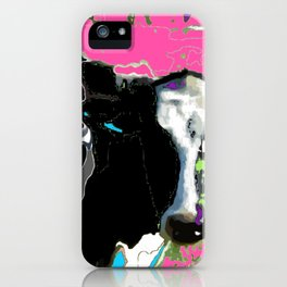 Painted cow iPhone Case