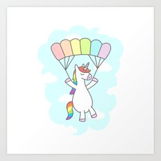 Unicorn Glide Art Print