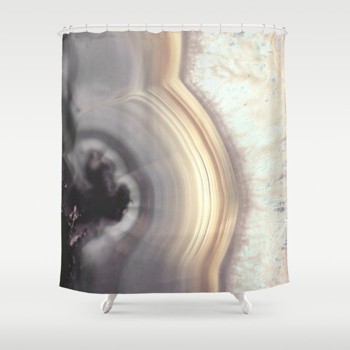 Taupe Agate Shower Curtain By Cafelab
