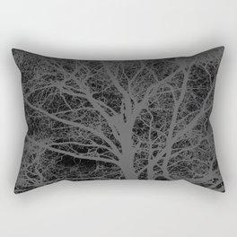 Black and white tree silhouette Rectangular Pillow