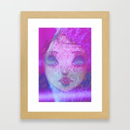Caught in a web of lies Framed Art Print