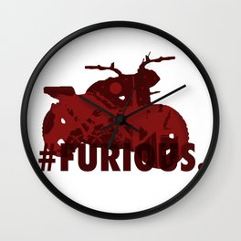 Furious Zombie Wall Clock