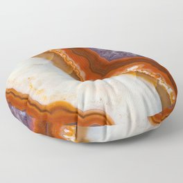 Rusty Amethyst Agate Floor Pillow