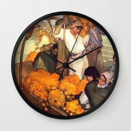 Saturnino Herran The Offering 1913 Wall Clock