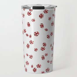 Peppermint Candy in White Travel Mug