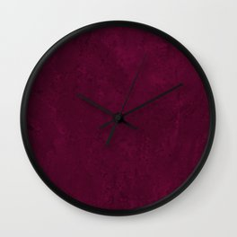 Hand painted modern abstract burgundy marble watercolor Wall Clock