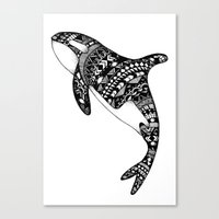 killer whale Canvas Prints featuring Killer Whale by Emma Barker