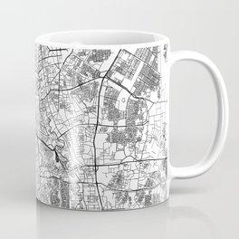 Jakarta White Map Coffee Mug