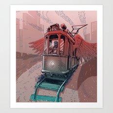 Winged Tram Art Print