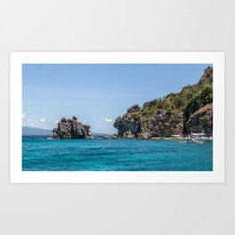 Formations of Apo Island Art Print