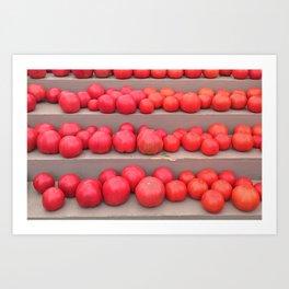 Tomato Ombré Art Print