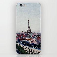 Paris Eiffel Tower Acrylics On Canvas Board iPhone Skin