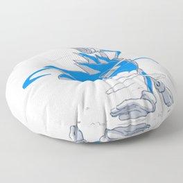 Blue Sonic  Floor Pillow
