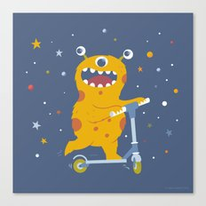 Scooter Monster Canvas Print