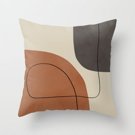 Modern Abstract Shapes #1 Throw Pillow