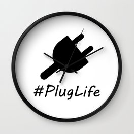 #PlugLife Plug Wall Clock