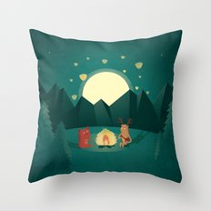 Camp Fires Throw Pillow