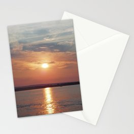 Lake Champlain sunset Stationery Cards