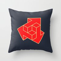 green arrow Throw Pillows featuring Arrow by Dizzy Moments