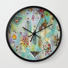 """Liminal Rights"" Original Painting by Flora Bowley Wall Clock"