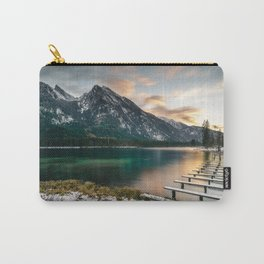 Sunset at lake hintersee in bavaria germany Carry-All Pouch