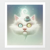luke hemmings Art Prints featuring Release the Odd Kitty!!! by Dr. Lukas Brezak