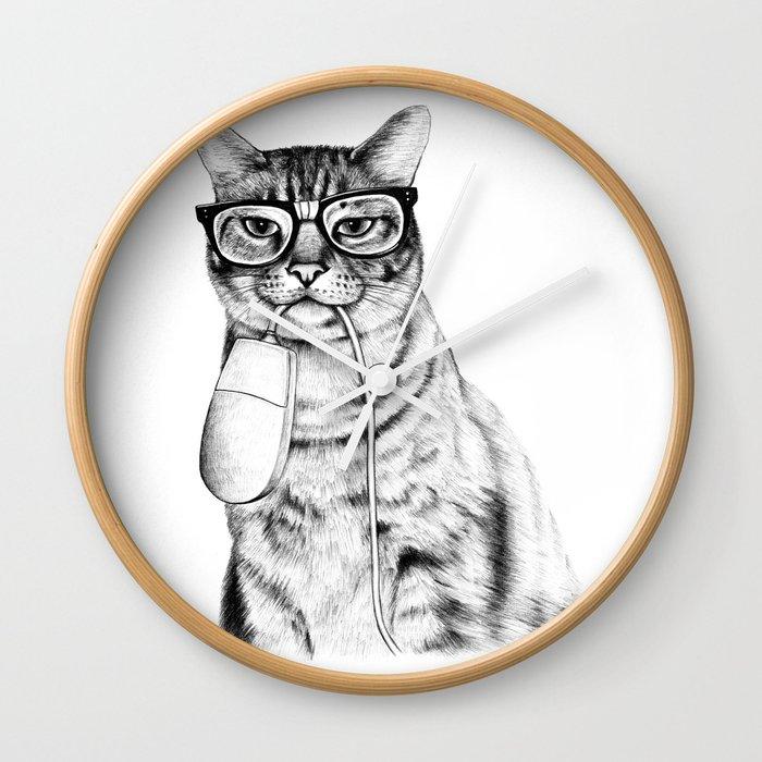 Mac Cat Wall Clock