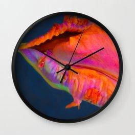 Rainbow Parrot Tulip by Teresa Thompson Wall Clock
