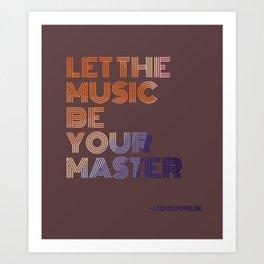 Let the Music Art Print