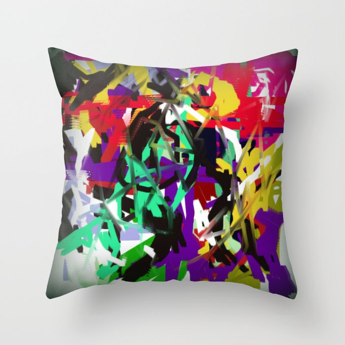 """Abstract """"Too Busy"""" Throw Pillow"""