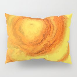 Yellow Agate Mineral Texture Pillow Sham