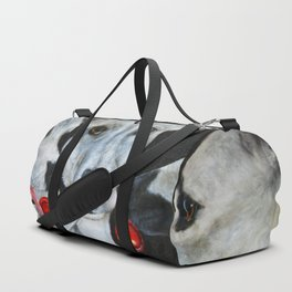 White Dogs and Tootsie Pops Duffle Bag