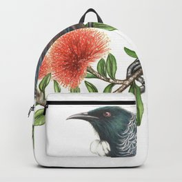 Tui on Pohutukawa Backpack