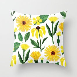 Botanic Watercolor Collection #17 Throw Pillow