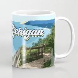 Lake Michigan Retro Coffee Mug