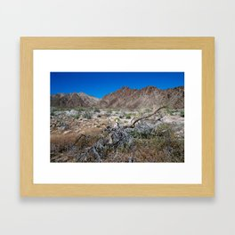 Mountains and Dead Smoke Tree Framed Art Print