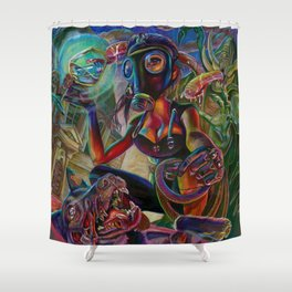 Lady Extinction Shower Curtain