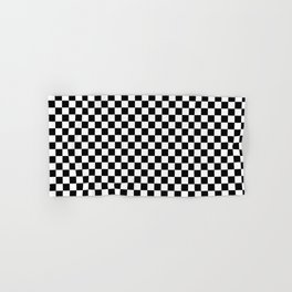 Classic Black and White Race Check Checkered Geometric Win Hand & Bath Towel