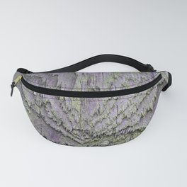 WEATHERED WOOD & LICHEN ABSTRACT Fanny Pack