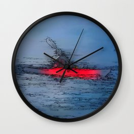 Wilderness Kayaker Wall Clock